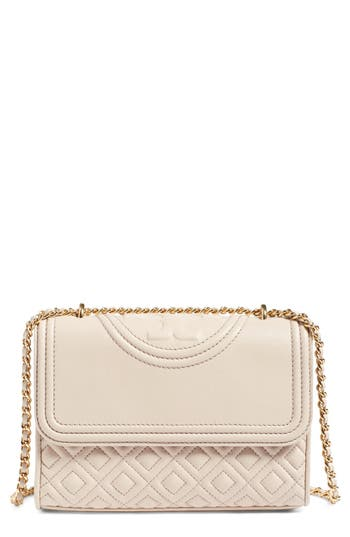 Tory Burch 'Small Fleming' Quilted Leather Shoulder Bag - Beige at NORDSTROM.com