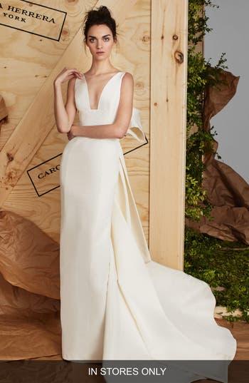Carolina Herrera Aubrey Silk Faille Column Gown
