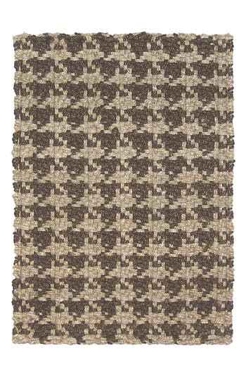 Villa Home Collection Houndstooth Rug, Size Swatch - Brown