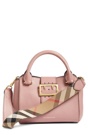 Burberry Small Buckle Leather Satchel - Pink