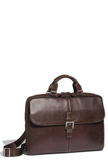 Boconi 'Tyler' Tumbled Leather Portfolio Briefcase