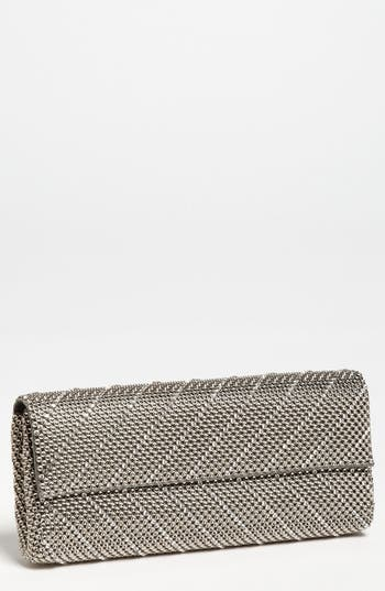 Whiting & Davis 'Crystal Chevron' Flap Clutch - Grey at NORDSTROM.com