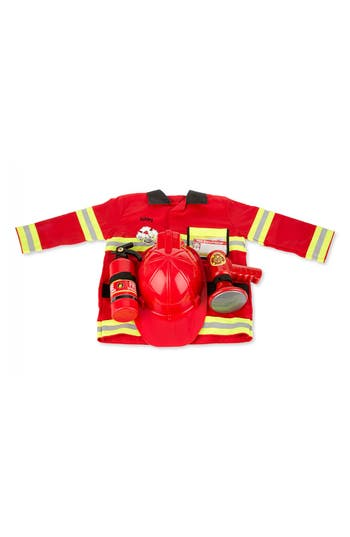 Toddler Melissa  Doug Personalized Fire Chief Costume Set