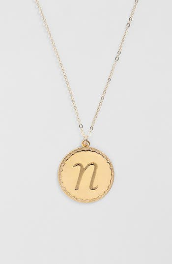 Women's Moon And Lola 'Dalton' Long Initial Pendant Necklace
