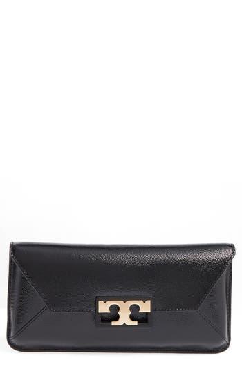 Tory Burch Gigi Caviar Leather Clutch -