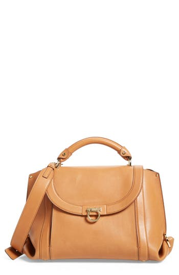 Salvatore Ferragamo Medium Suzanna Leather Satchel - Brown