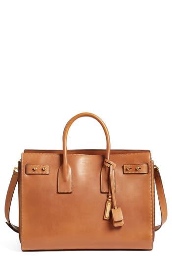 Saint Laurent Medium Sac De Jour Grained Leather Tote - Brown