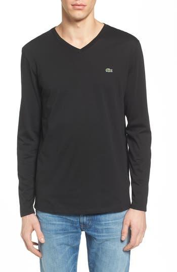 Lacoste Long Sleeve T-Shirt, Black