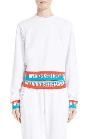 Women's Opening Ceremony Elastic Logo Crop Sweatshirt