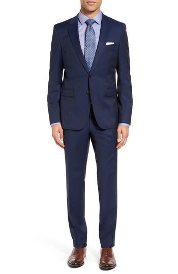 Men's Boss Ryan/win Trim Fit Solid Wool Suit