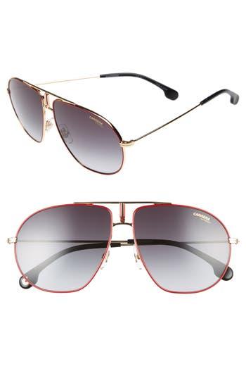 Carrera Eyewear Bounds 62Mm Gradient Aviator Sunglasses - Red Gold