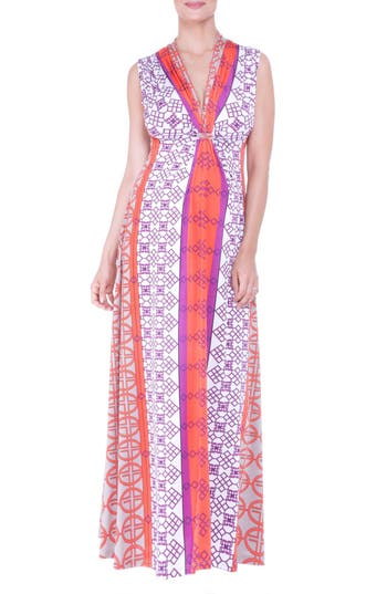 Olian Empire Waist Maxi Maternity Dress