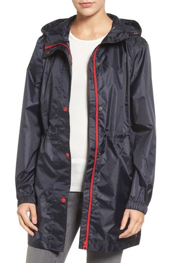 Women's Joules Right As Rain Packable Hooded Raincoat
