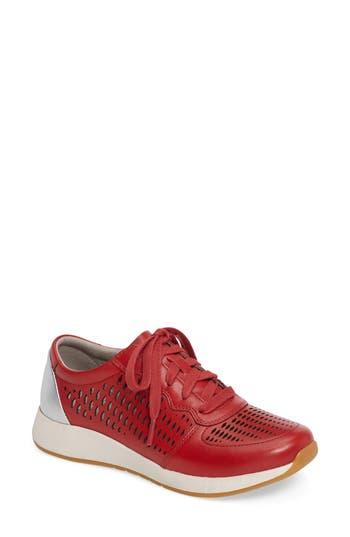 Dansko Charlie Perforated Sneaker-6- Red