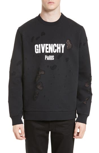 Men's Givenchy Distressed Logo Graphic Sweatshirt