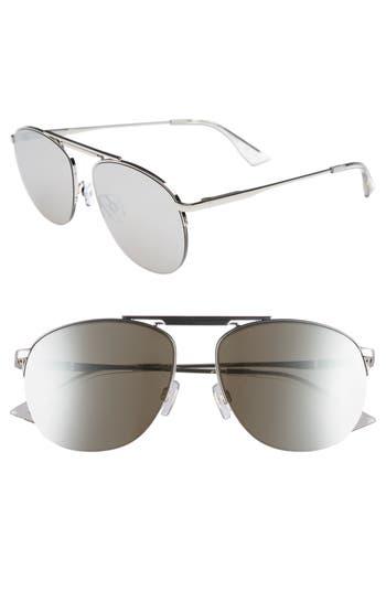 Le Specs Liberation 57Mm Aviator Sunglasses - Silver