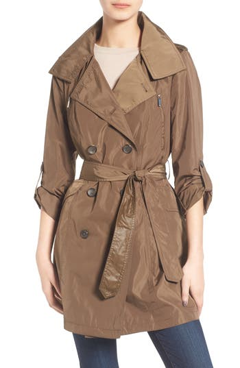 Women's French Connection Drape Back Trench Coat