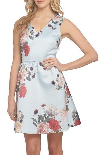 Cece Rose Fit & Flare Dress