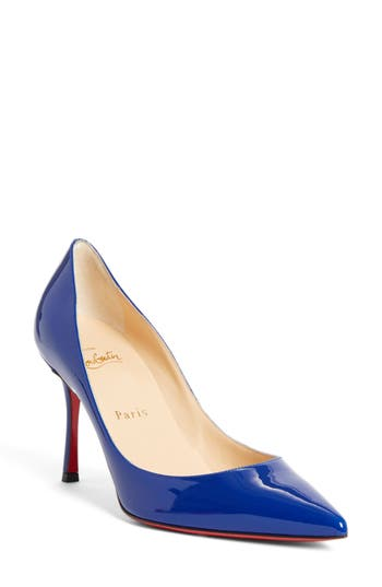 Christian Louboutin Decoltish Pointy Toe Pump, Blue