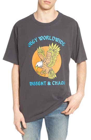 Obey Eagle Dissent & Chaos Graphic T-Shirt