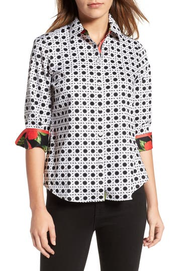 Women's Foxcroft Wicker Print Shirt