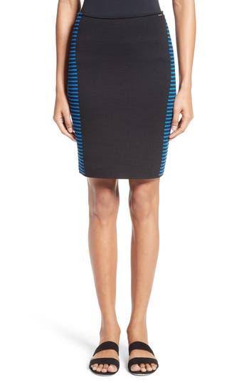 Women's St. John Collection Stripe Knit Jacquard Pencil Skirt
