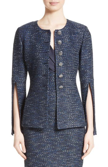 Women's St. John Collection Alisha Sparkle Tweed Jacket