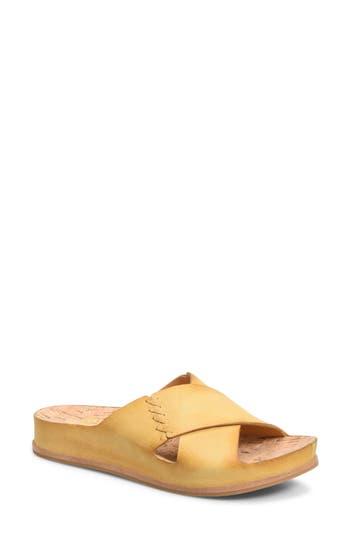 Kork-Ease Amboy Slide Sandal, Yellow