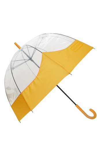 Hunter 'Moustache' Bubble Umbrella - Yellow