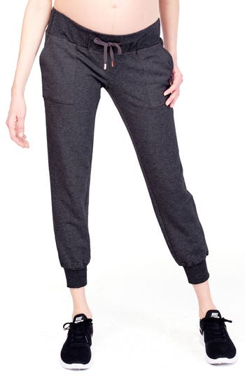 Cozy Fleece Maternity Jogger Pants