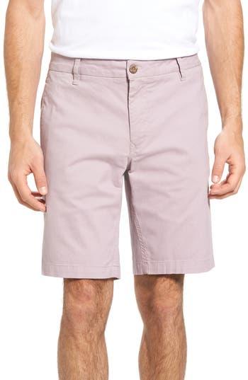 Tailor Vintage Stretch Twill Walking Shorts, Purple