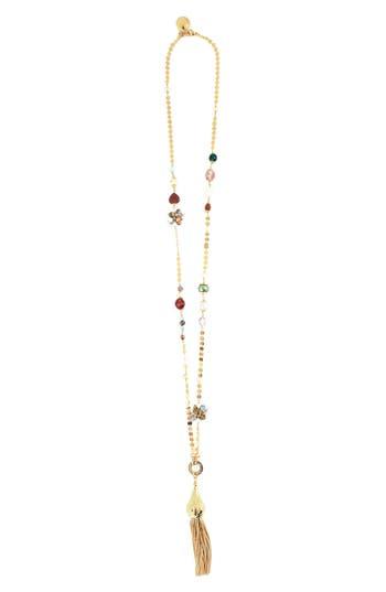 Women's Gas Bijoux Pompom Tassel Necklace