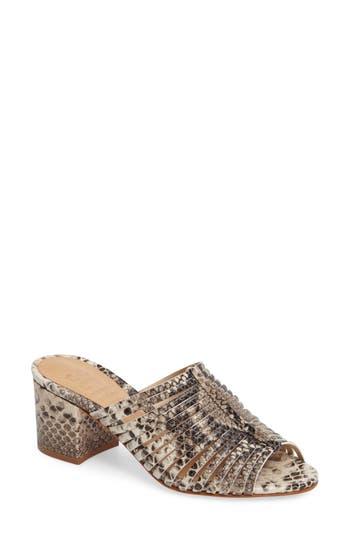 Schutz Cecillya Block Heel Sandal, Metallic