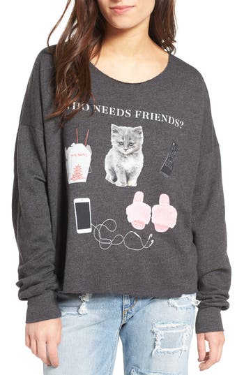 Women's Wildfox Who Needs Friends Pullover