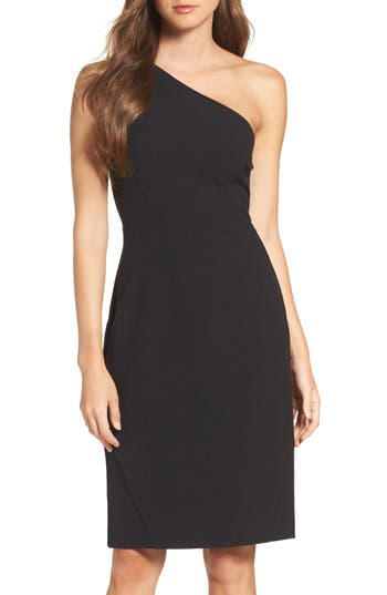 Vince Camuto Crepe One-Shoulder Body-Con Dress