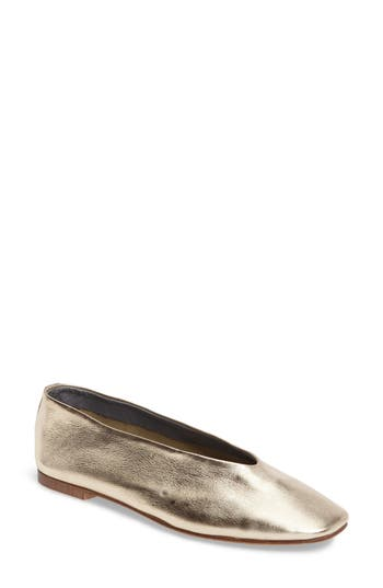 Topshop Kick Ballet Flat - Metallic