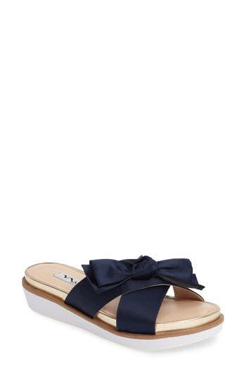 Nina Garda Bow Slide- Blue