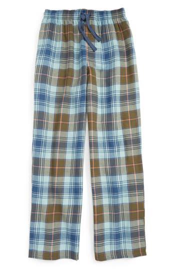 Boy's Tucker + Tate Plaid Flannel Pants, Size S (7-8) - Blue