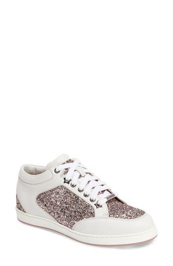 Jimmy Choo Miami Glitter Sneaker - Pink