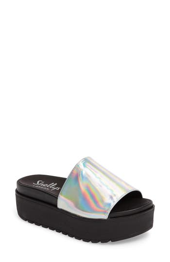 Shellys London Kora Platform Slide, Metallic