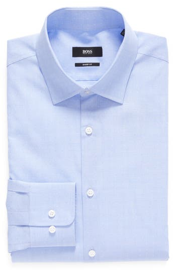 Men's Boss Sharp Fit Pattern Dress Shirt