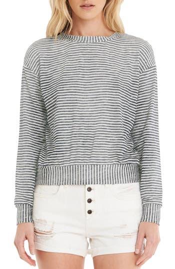 Women's Michael Stars Stripe Crop Sweatshirt