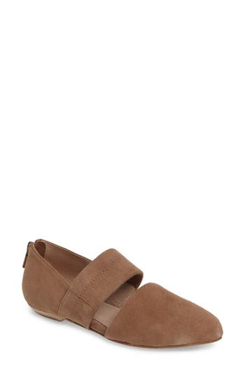 Eileen Fisher Hall Pointy Toe Flat- Beige