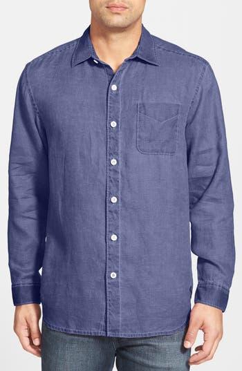 Men's Tommy Bahama 'Sea Glass Breezer' Original Fit Linen Shirt, Size XX-Large - Purple