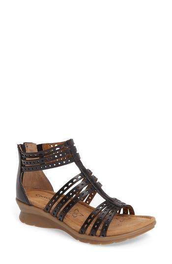 Comfortiva Kaelin Wedge Sandal, Black