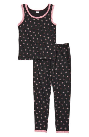 Girl's Ruby & Bloom Fitted Two-Piece Pajamas