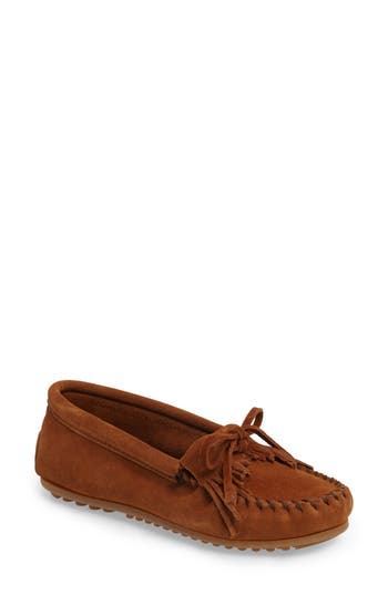 Women's Minnetonka 'Kilty' Suede Moccasin at NORDSTROM.com