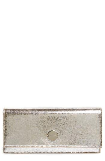 Jimmy Choo Fie Metallic Leather Clutch -