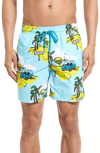 Vilebrequin Moorea Mini Moke Print Swim Trunks