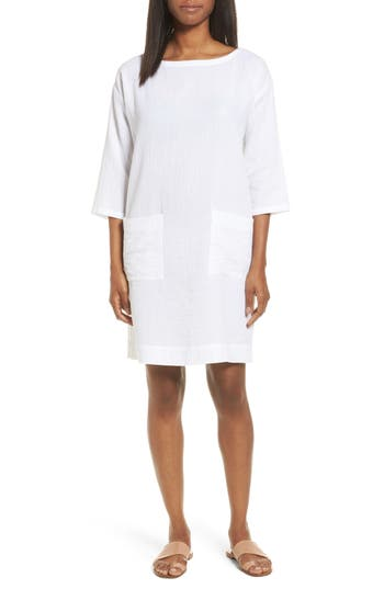 Eileen Fisher Organic Cotton Tunic Dress, White